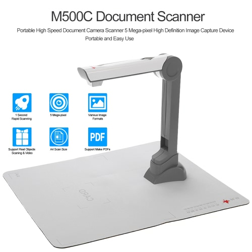 M500c Document Scanner Portable High Speed Document Camera