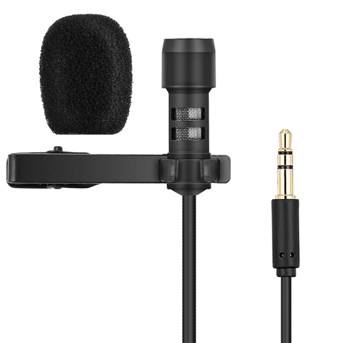 Yanmai Lavalier Lapel Microphone Clip-on Omnidirectional Mic Condenser Microphone Audio Recorder Youtube/Interview/Podcast/Recording/Video Conference for iPhone Smartphones PC Cameras