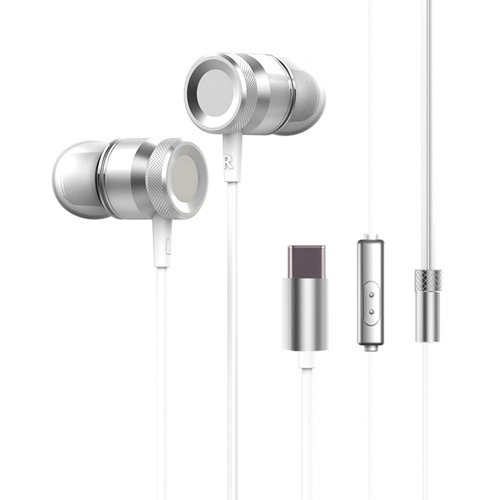 USB Type-c In-Ear Wired Metal Earphone Headset Type C Earphone Earbuds In-line Control w/ Mic for Xiaomi 6 Note 3 MIX 2 Letv LeEco Le 2 3 Smartisan Pro Pro 2 Gold
